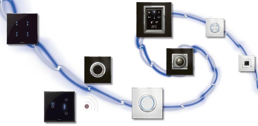 SCS-bus子系统:自动控制系统   罗格朗提供灯光、调光、窗帘等自动执行器;配合控制器、触屏、场景、定时、手机、网页等管理终端更好满足客户需要;其齐全产品规格支持白炽灯、卤素灯、荧光灯、LED灯等多种灯源。   智能感应灯光:夜晚回家不再需要寻找开关开灯,关灯;同时内置光感探头,在白天时不开灯;无需要手动管理,自动执行,同时支持节日强制常亮模式。   背景音乐:罗格朗提供立体声背景音乐系统,可以将电视、手机、DVD、MP3、FM广播接入总线系统,通过房间控制器或触屏任意选择和切换,多个房间互不干