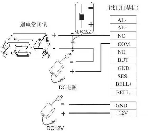 答:门禁一体机的报警输出是一个开关信号,可以把它串联到简单报警器